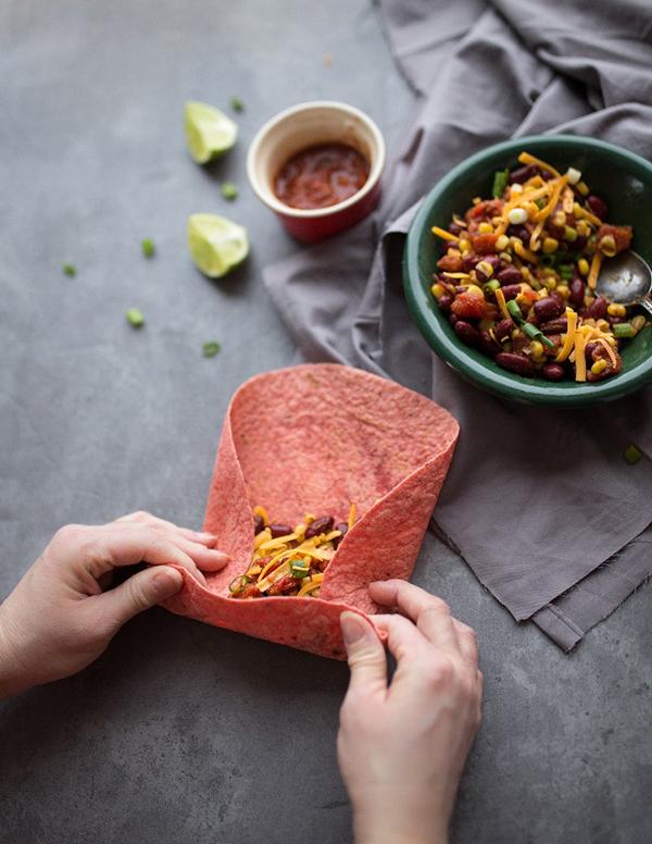 Bean & Corn Burritos